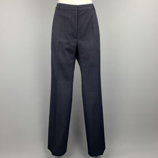 DRIES VAN NOTEN Size 6 Navy Wool Blend Dress Pants