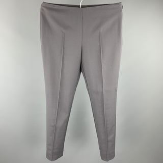 AKRIS Size 6 Grey Cotton Blend Side Zipper Dress Pants