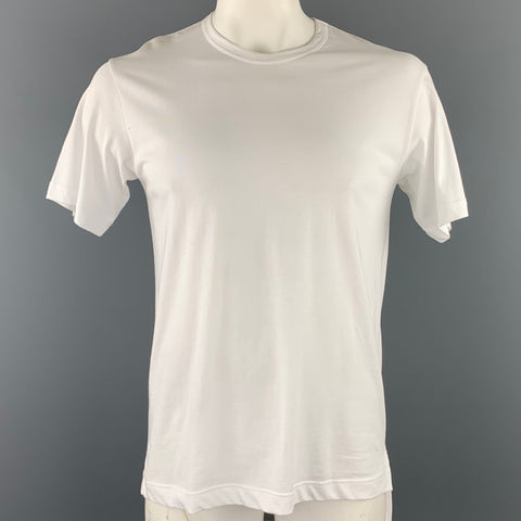 COMME des GARCONS SHIRT Size L White Cotton Crew-Neck T-shirt