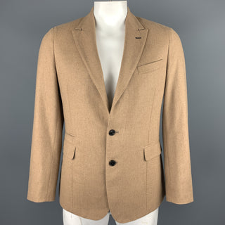 PAUL SMITH Size 40 Regular Tan Camel Hair Peacoat Sport Coat