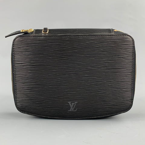 LOUIS VUITTON Ponche Monte Carlo Black Textured Epi Leather Jewelry Case
