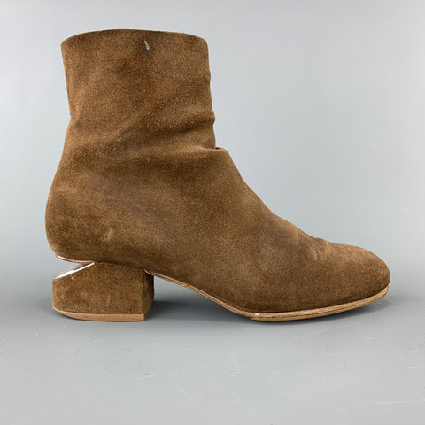 ALEXANDER WANG Size 6 Brown Suede Cutout Heel KELLY Boots