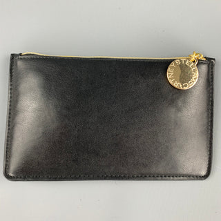 STELLA McCARTNEY Black Faux Leather Zipper Pouch
