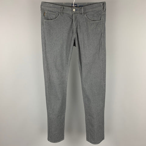 PAUL SMITH JEANS Size 34 Dark Gray Houndstooth Cotton Jean Cut Casual Pants