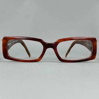 CHANEL Tortoise Shell Textured Acetate Reading Glasses