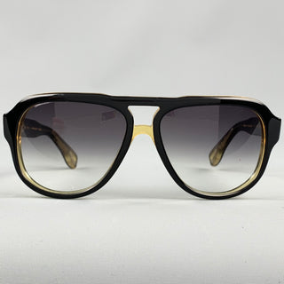 DITA Black Acetate Drop Sunglasses