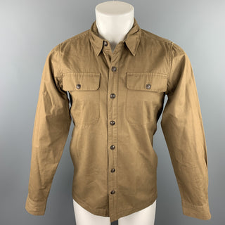 BRIDGE & BURN Size S Khaki Cotton Buttoned Jacket