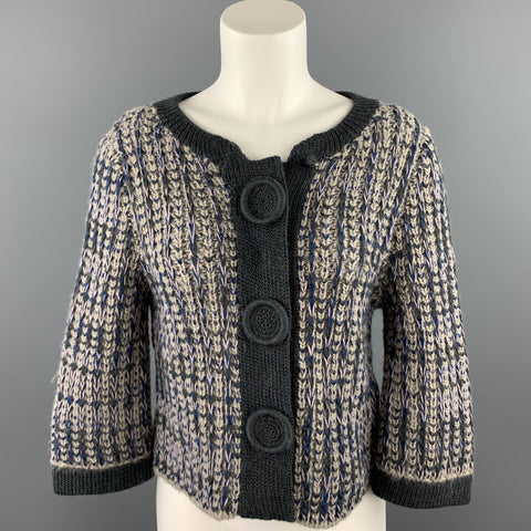 MARC by MARC JACOBS Size M Gray Knitted Wool Blend Jacket
