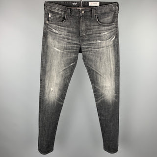 ADRIANO GOLDSCHMIED The Dylan Size 34 Black Distressed Denim Jeans