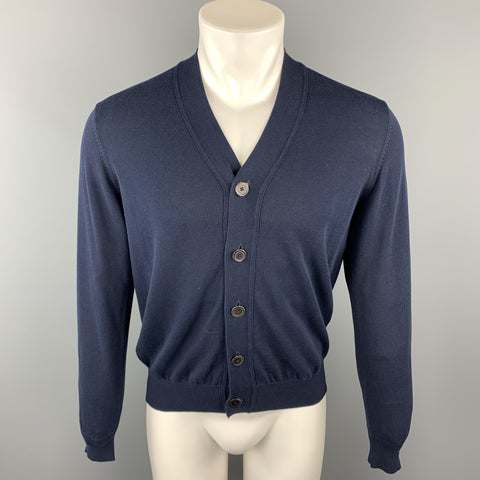 TOMORROWLAND Size S Navy Solid Buttoned Cardigan