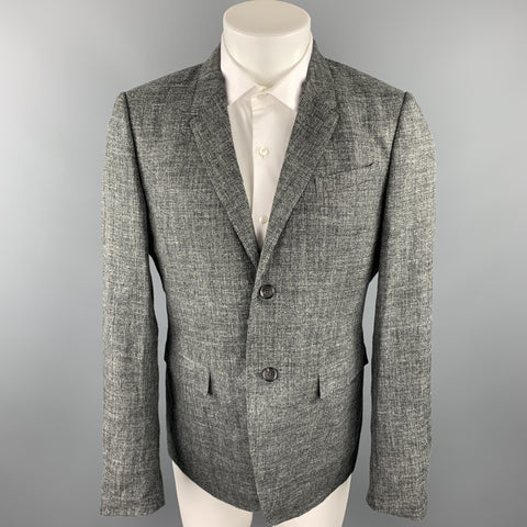 BURBERRY PRORSUM Size 42 Charcoal Heather Silk Blend Sport Coat