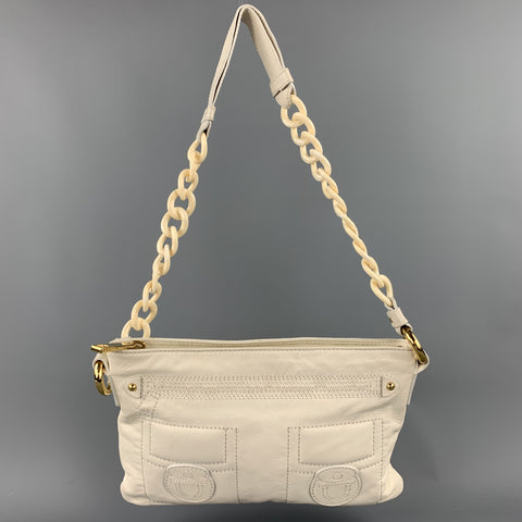 MARC JACOBS Cream Leather Shoulder Strap Handbag