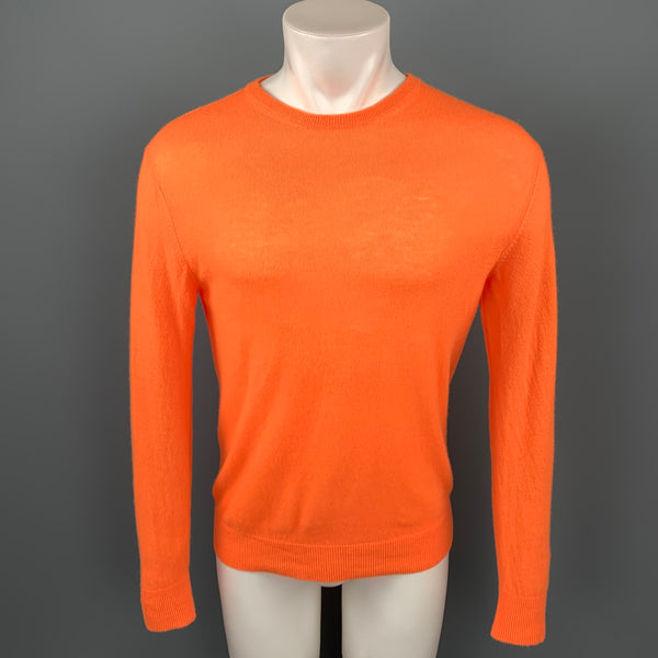 NICK WOOSTER x PAUL & SHARK Size M Orange Cashmere / Nylon Crew-Neck Pullover