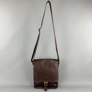 SAGEBROWN Burgundy Leather Shoulder Bag