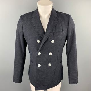 BAND OF OUTSIDERS Size 36 Charcoal Wool Double Breasted Sport Coat