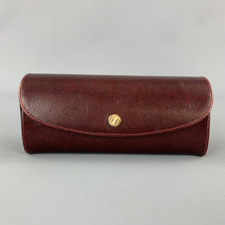 GOLDPFEIL Burgundy Leather SNap Closure Eyewear Case