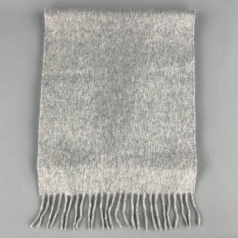LORD Heather Gray Cashmere Fringe Scarf