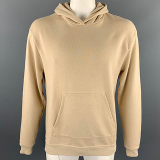 JOHN ELLIOTT Size M Khaki Cotton Blend Hooded Sweatshirt