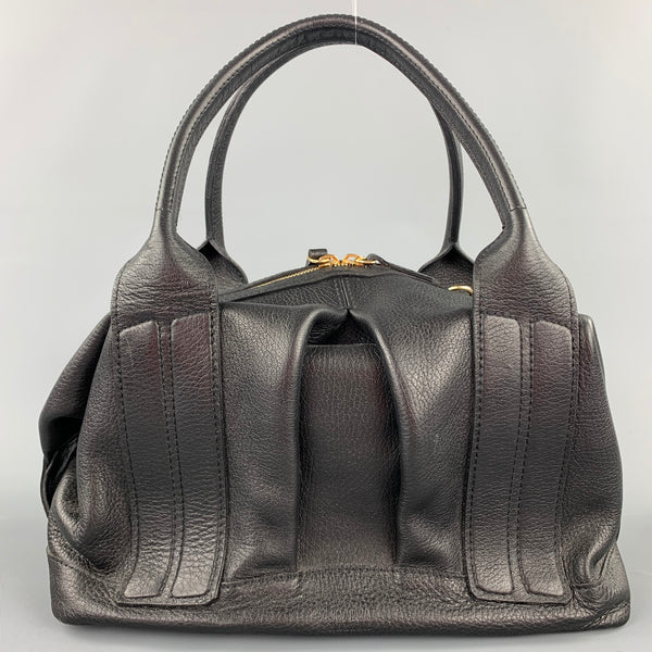 JOANNA MAXHAM Black Textured Leather Top Handles Handbag