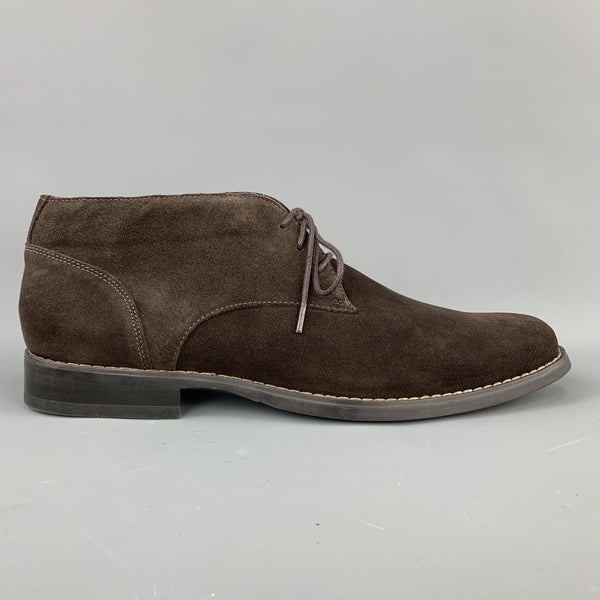 CALVIN KLEIN Size 10.5 Brown Suede Rubber Sole Chukka Boots