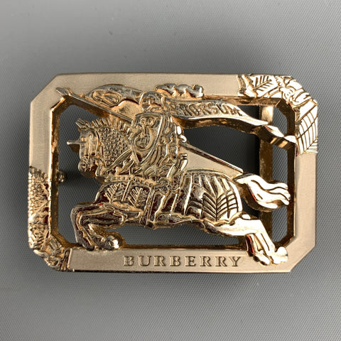 BURBERRY PRORSUM Knight Silver Tone Metal Belt Buckle