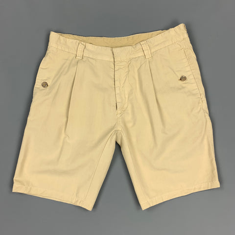 GERANI Size 30 Khaki Cotton Zip Fly Shorts