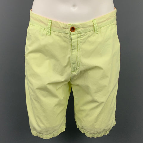 SCOTCH AND SODA Size 31 Light Yellow Cotton Zip Fly Shorts