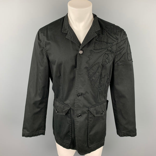 PS by PAUL SMITH Size 40 Black Patches Cotton Buttoned Jacket
