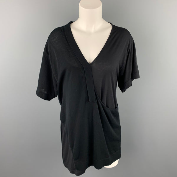 CoSTUME NATIONAL Size S Black Mixed Fabrics Casual Top