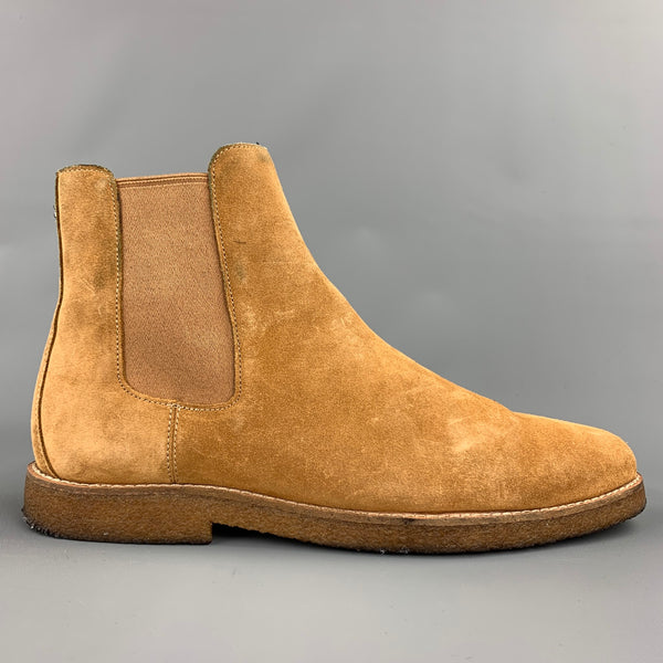 COACH Size 9.5 Camel Suede Chelsea Boots