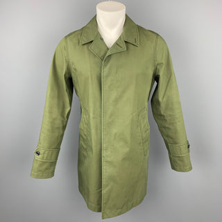 NANAMICA Size M Olive Gore-Tex Coated Cotton Hidden Buttoned Coat