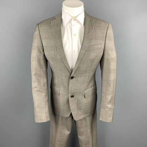 TALLIA Size 36 Gray Glen Plaid Wool Notch Lapel Suit