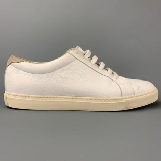 BRUNELLO CUCINELLI Size 13 White Leather Low Top Sneakers