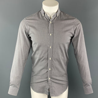 RALPH LAUREN Size S Black & White Checkered Cotton Button Down Long Sleeve Shirt