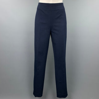 JOSEPH Size 12 Navy Gabardine Viscose / Cotton Dress Pants