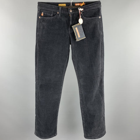 ADRIANO GOLDSCHMIED Size 30 Charcoal Corduroy Jean Cut Casual Pants