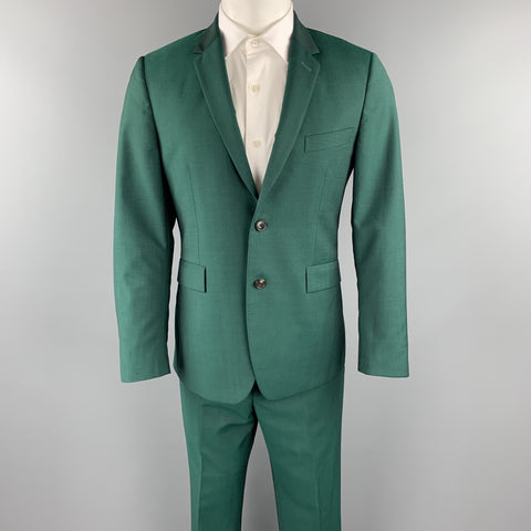 PAUL SMITH Size 38 Green Wool / Mohair Notch Lapel Suit