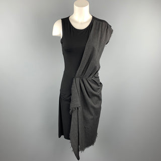MCQ by ALEXANDER MCQUEEN Size S Black & Charcoal Viscose Blend Sleeveless Shift Dress