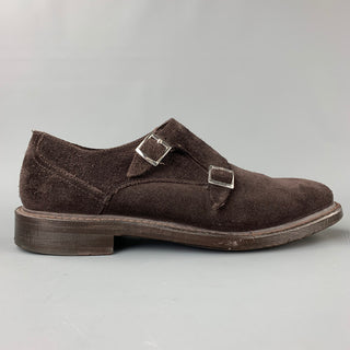 DOCKERS Size 8.5 Brown Suede Double Monk Strap Loafers