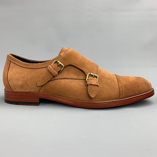 COACH Size 11 Tan Suede Double Monk Strap Loafers