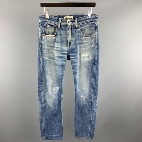 LEVI'S MADE & CRAFTED Size 29 x 34 Indigo Washed Cotton Jeans