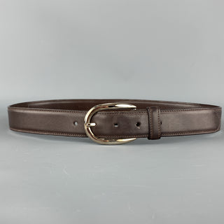 RALPH LAUREN Solid Size 32 Brown Leather Belt
