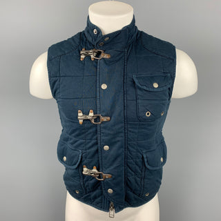 POLO by RALPH LAUREN Size S Navy Quilted Cotton Nautical Vest