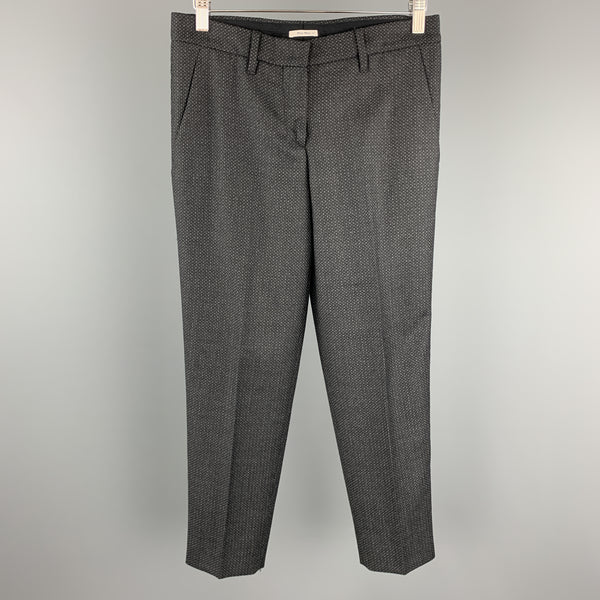 MIU MIU Size 2 Grey Houndstooth Wool Dress Pants