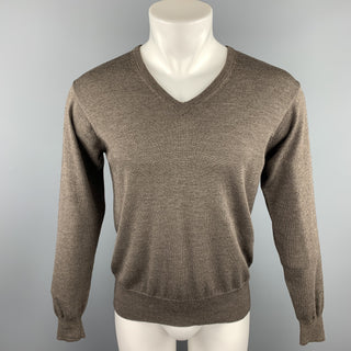 NEIMAN MARCUS Size M Brown Merino Wool Blend Pullover