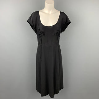 NARCISO RODRIGUEZ Size 10 Black Virgin Wool / Silk Dress