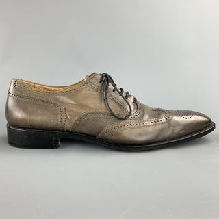 OLIVER SPENCER Size 11 Taupe Antique Leather Wingtip Lace Up Shoes