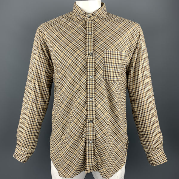 ENGINEERED GARMENTS Size L Beige Plaid Cotton Button Up Long Sleeve Shirt