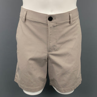 KIT AND ACE Size 34 Taupe Cotton Blend Zip Fly Shorts
