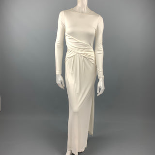 RACHEL ZOE Size 4 White Jersey Rayon Draped Dress